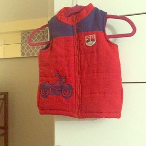 Boys blue and red vest